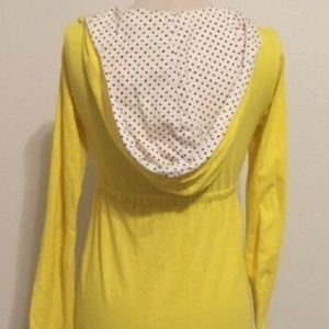 Volcom Yellow cover up with Polka Dot Hoodie
